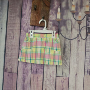 Other - girls plaid skirt builtin shorts 24 month I46